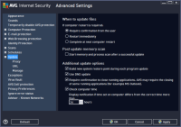 AVG Antivirus Free - Advanced Settings